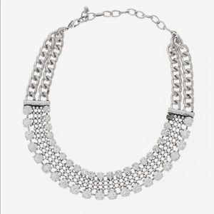 Rachel Zoe silver and crystal choker necklace